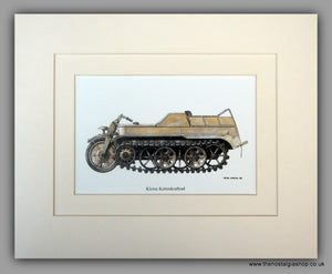 Kleine Kettenkraftrad. German Vehicle. Mounted Print