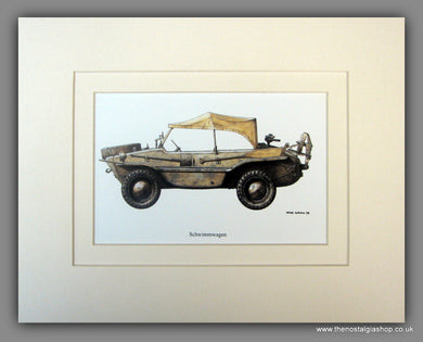 Schwimmwagen. German Vehicle. Mounted Print