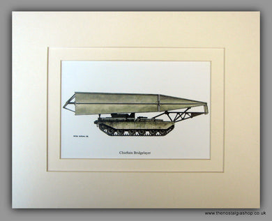 Chieftain Bridgelayer. British Vehicle. Mounted Print