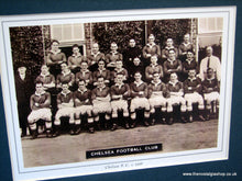 Load image into Gallery viewer, Chelsea  F.C. 1936. Team Photo in Mount.