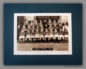 Chelsea  F.C. 1936. Team Photo in Mount.