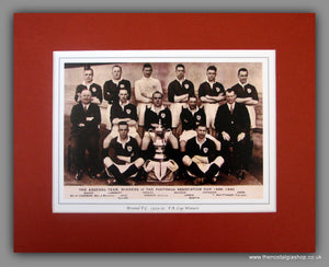 Arsenal F.C. 1929 - 30 F.A. Cup Winners. Team Photo in Mount.