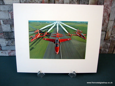 Red Arrows. Mounted Print.