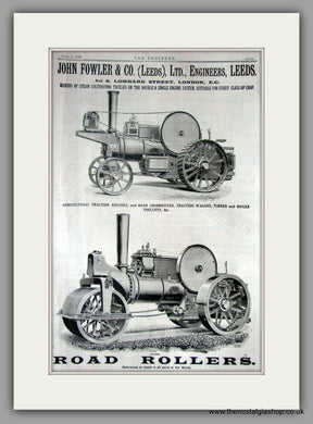 John Fowler & Co. Traction Engines. Original Advert 1897 (ref AD11226)