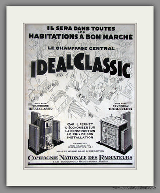 Ideal Classic Radiateurs. Original French Advert 1929 (ref AD11228)