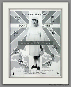 10,000 Maniacs, Hope Chest. 1990 Original Advert (ref AD52710)
