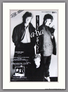 A-Ha, The Sun Always Shines On TV. 1985 Rare Japanese Original Advert (ref AD51854)