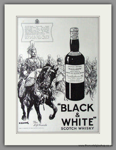 Black & White Scotch Whisky. Original Advert 1937 (ref AD11425)
