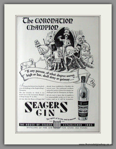 Seagers Gin. Original Advert 1937 (ref AD11426)