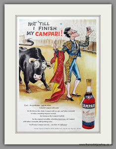 Campari. Bullfighter. Original Advert 1976 (ref AD51630)