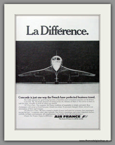 Concorde, Air France, La Difference. Original Advert 1979 (ref AD51712)