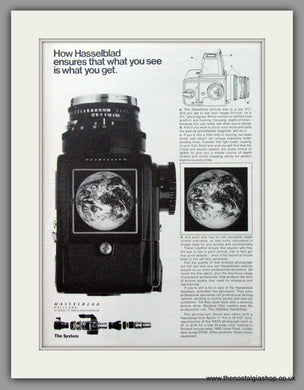 Hasselblad Paillard Camera. Original Advert 1973 (ref AD51713)