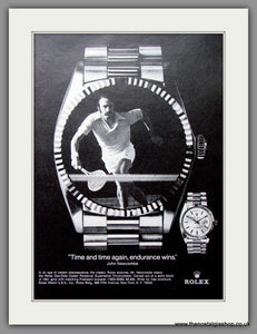 Rolex Day-Date Oyster Perpetual worn by John Newcombe. Original Advert 1975 (ref AD51834)