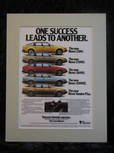 ROVER NEW RANGE 1980 Original advert
