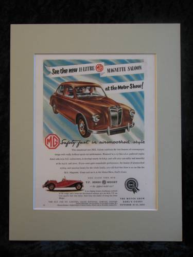 MG MAGNETTE SALOON original advert 1953
