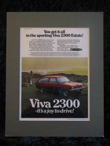 VAUXHALL VIVA 2300 estate original advert 1973