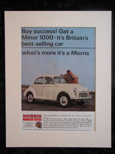 Morris Minor 1000 Original advert 1965 (ref AD127)