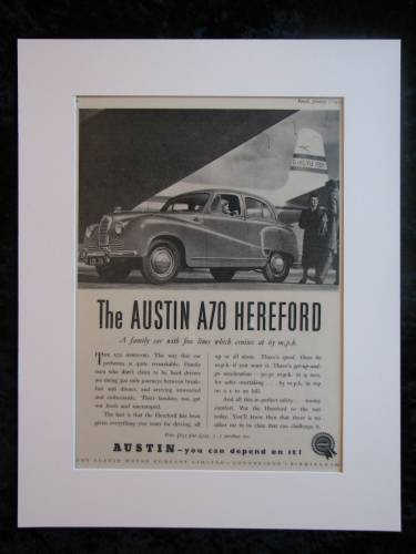 Austin A70 Hereford Original advert 1953 (ref AD128)