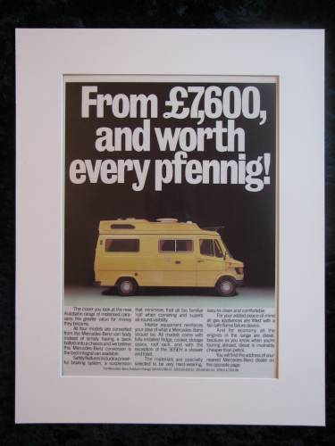 MERCEDES CAMPERVAN  original advert 1979 (ref AD130)