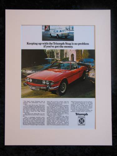 TRIUMPH STAG original advert 1974 (ref AD152)