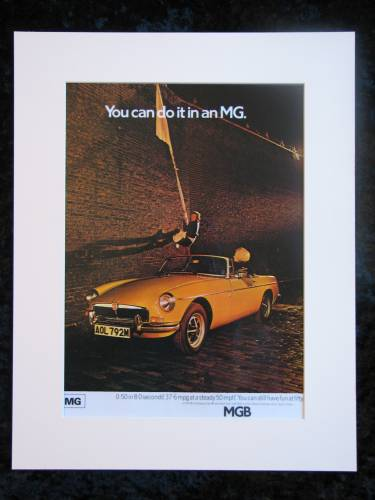 MG original advert 1974 MGB (ref AD155)