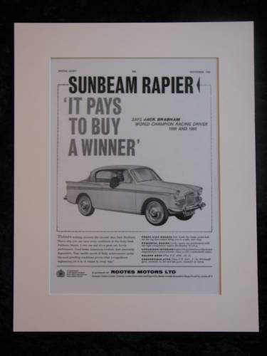 SUNBEAM RAPIER original advert 1960 (ref AD158)