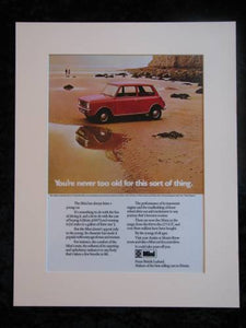 Mini. Original advert 1973 (ref AD159)