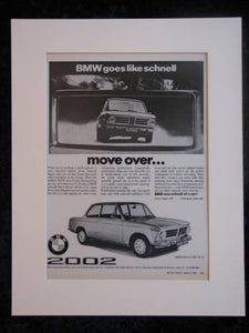 BMW 2002 original advert 1970 (ref AD164)