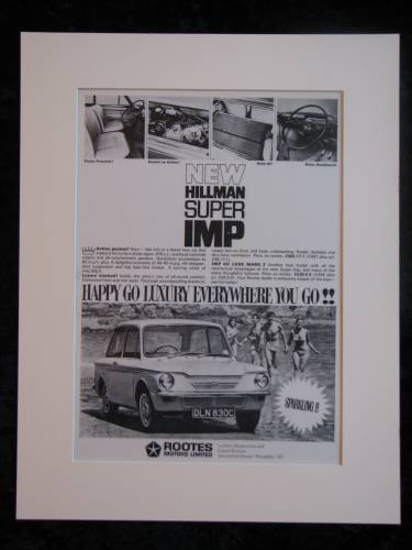HILLMAN SUPER IMP original advert 1965 (ref AD170)