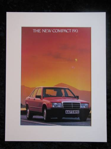 MERCEDES 190 original advert 1983 (ref AD172)