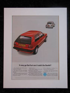 VW GOLF GTI  original advert 1988 (ref AD182)