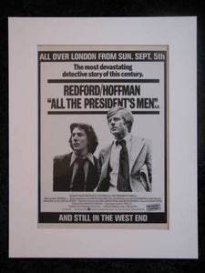 All The President's Men. Original advert 1976 (ref AD193)