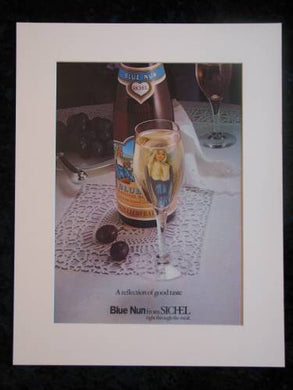 BLUE NUN  original advert 1975 (ref AD223)