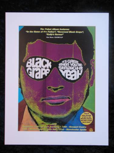 BLACK GRAPE DEBUT ALBUM original advert 1995 (ref AD254)