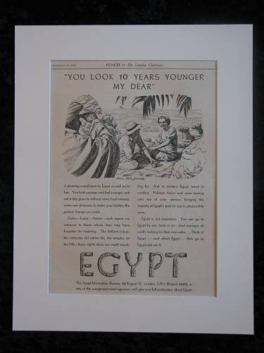 EGYPT  original advert 1938  (ref AD288)