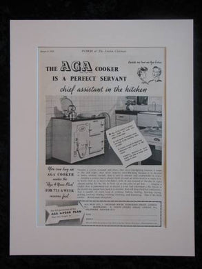 Aga Cooker Original advert 1939  (ref AD294)