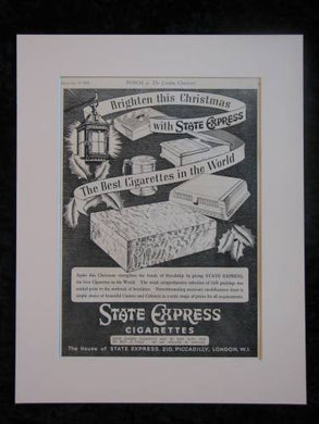 STATE EXPRESS CIGARETTES original advert 1939  (ref AD312)