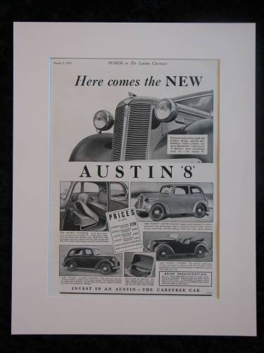 Austin 8 Original advert 1939  (ref AD318)