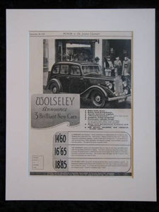 Wolseley Original advert 1938  (ref AD319)