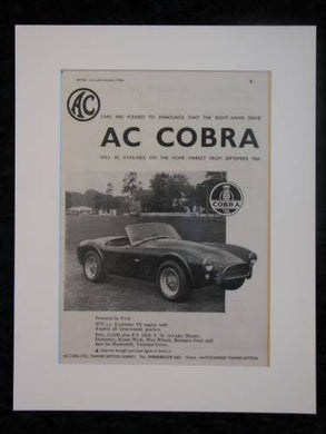 AC Cobra Original advert 1964 (ref AD326)