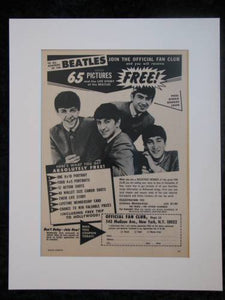 The Beatles, Join the fan club!  original advert 1964 (ref AD327)