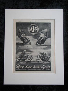 AJS Race-bred Motorcycles original advert 1953(ref AD350)