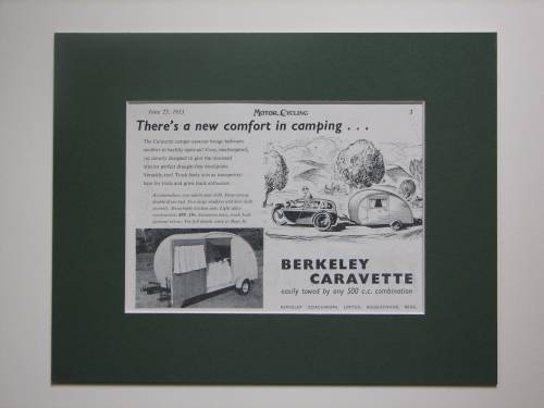 Caravette Berkeley original advert 1953 (ref AD371)