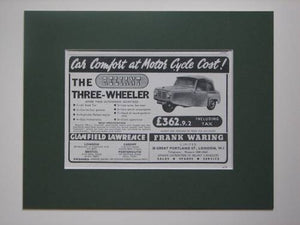 Reliant Three-wheeler original advert 1953 (ref AD377)