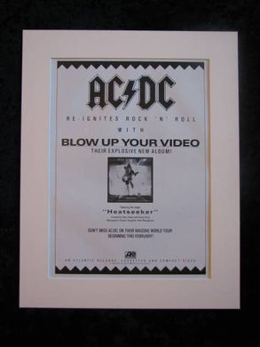 AC DC -Blow up your video, original advert 1988 (ref AD380)