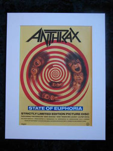 Anthrax State of Euphoria original advert 1989 (ref AD381)