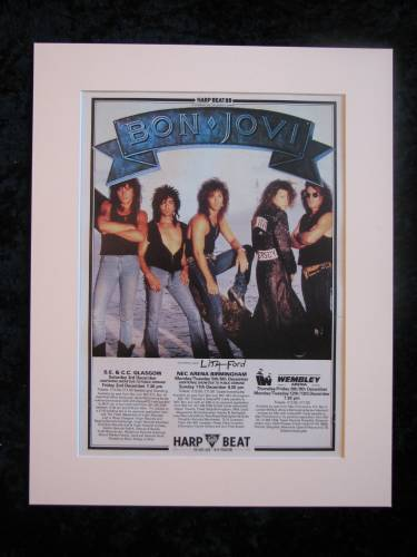 Bon Jovi 1988 Tour Original advert  (ref AD383)