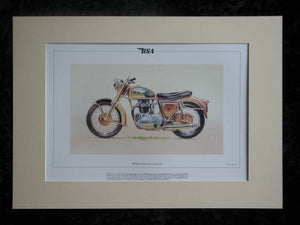 BSA A10 Golden Flash  Mounted print  Ltd Edition (ref PR3)