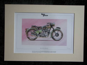 Royal  Enfield Bullet  Mounted print  Ltd Edition (ref PR6)
