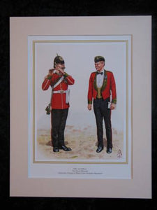 The Green Howards  Mounted print (ref PR411)
